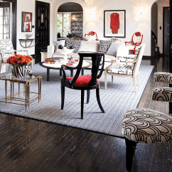 Black White And Red Living Room Decorating Ideas Photos Of Decorated Rooms Interiors Kitchens Bedrooms View In Gallery Bold Used A Whimsical Fashion The Along With