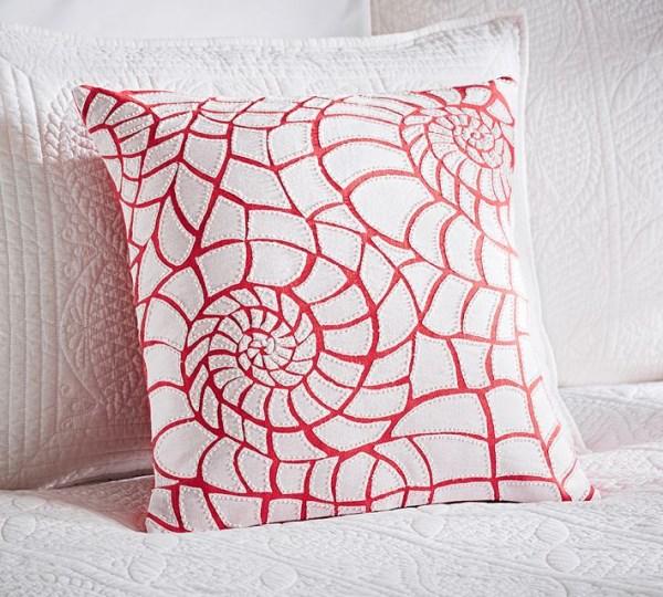 Coral-motif pillow