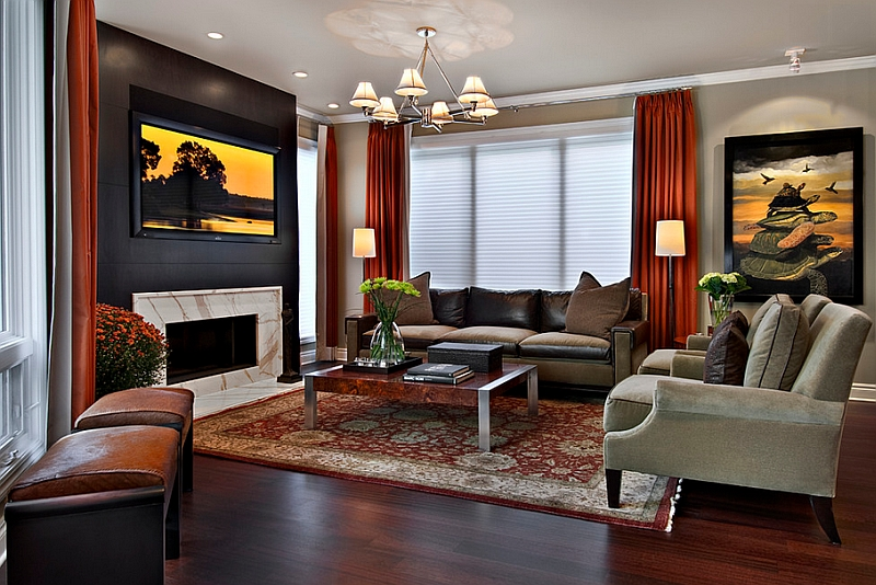 paint ideas for living room with black furniture decorating colors schemes red and white interiors rooms kitchens bedrooms view in gallery drapes are a wonderful way to bring bold without overwhelming the