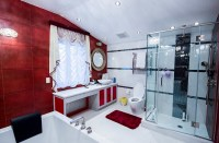 Red, Black And White Interiors: Living Rooms, Kitchens ...