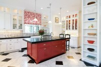 Red, Black And White Interiors: Living Rooms, Kitchens