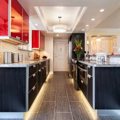 Fluorescent Kitchen Lighting Ideas Outdoor Island Kits Red, Black And White Interiors: Living Rooms, Kitchens ...