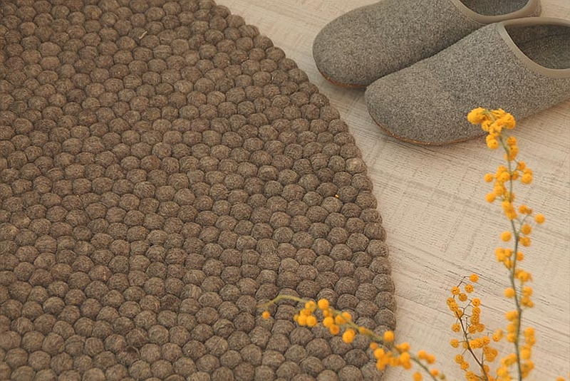 Artistic HandCrafted Felt Ball Rugs Bring Home Multihued
