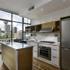 Industrial Kitchen Island Wooden Toy Kitchens Dramatic Views And A Snazzy Interior Shape Loft-style ...