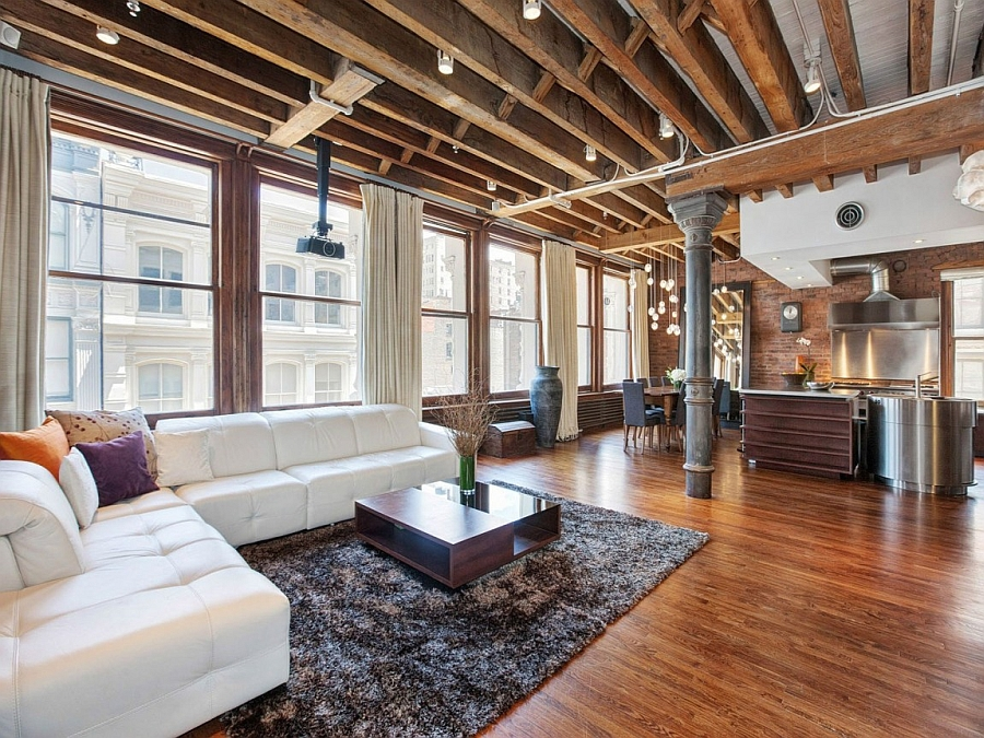 Cozy New York City Loft Enthralls With An Eclectic Interior Wrapped In Brick