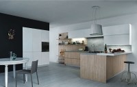 Simple design of the modern minimalist kitchen in a ...