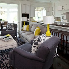 Gray And Yellow Living Room Images How To Decorate Large With Fireplace Rooms Photos Ideas Inspirations View In Gallery Simple Accents Can Transform A Dull Into Lively Space