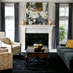 Living Room Decor Gray And Yellow Closet Door Ideas Rooms Photos Inspirations View In Gallery Stunning Space With Platinum Silk Draperies Charcoal Grey Golden