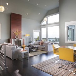 Color Schemes For Living Room With Gray Furniture Sets And Yellow Rooms Photos Ideas Inspirations View In Gallery The Adjoining Dining Space Adds To Overall Appeal Scheme Of