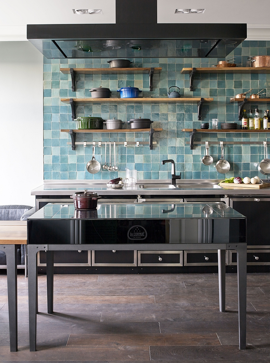 kitchen island ideas for small kitchens stainless steel countertops ingenious la cornue w. reinterprets classic design the ...