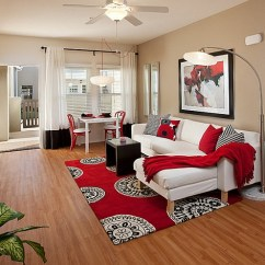 Black And Red Living Room Decorating Ideas How To Arrange Furniture With Corner Fireplace White Interiors Rooms Kitchens Bedrooms View In Gallery Combined Make The More Pleasant