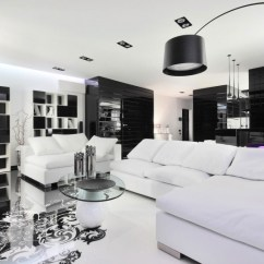 Pictures Of Black And White Living Rooms Red Sofa Room Design Ideas View In Gallery Amazing With Lone Purple Chair The Backdrop