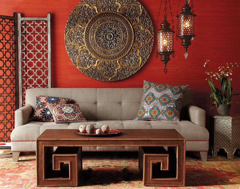 arabian themed living room ideas decor small apartments moroccan rooms photos and inspirations view in gallery bamboo coffee table ornate details shape this chic bold colors