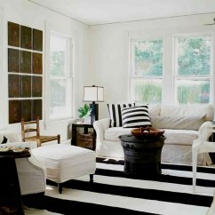 Design Ideas For Black And White Living Room Idea Brown Sofa Rooms View In Gallery Beach Style Meets Chic Farmhouse Appeal This Cool