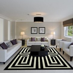 Pictures Of Modern White Living Rooms Decorating Ideas For Room With Dark Hardwood Floors Black And Design View In Gallery Captivating Rug Ensures That This Cool Has A Striking Centerpiece