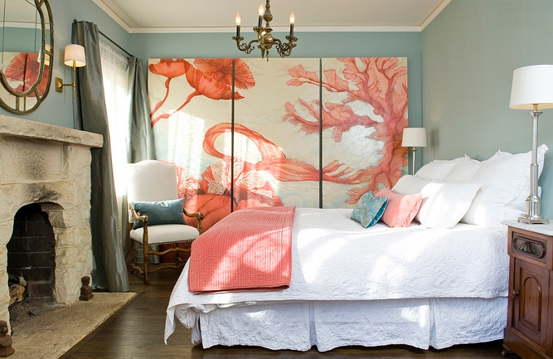 Coral combined with light blues usher in a Mediterranean charm Hot Color Trends: Three Fashionable Hues That Serve You All Year Long Year Trends Three Serve Long Hues Fashionable Color
