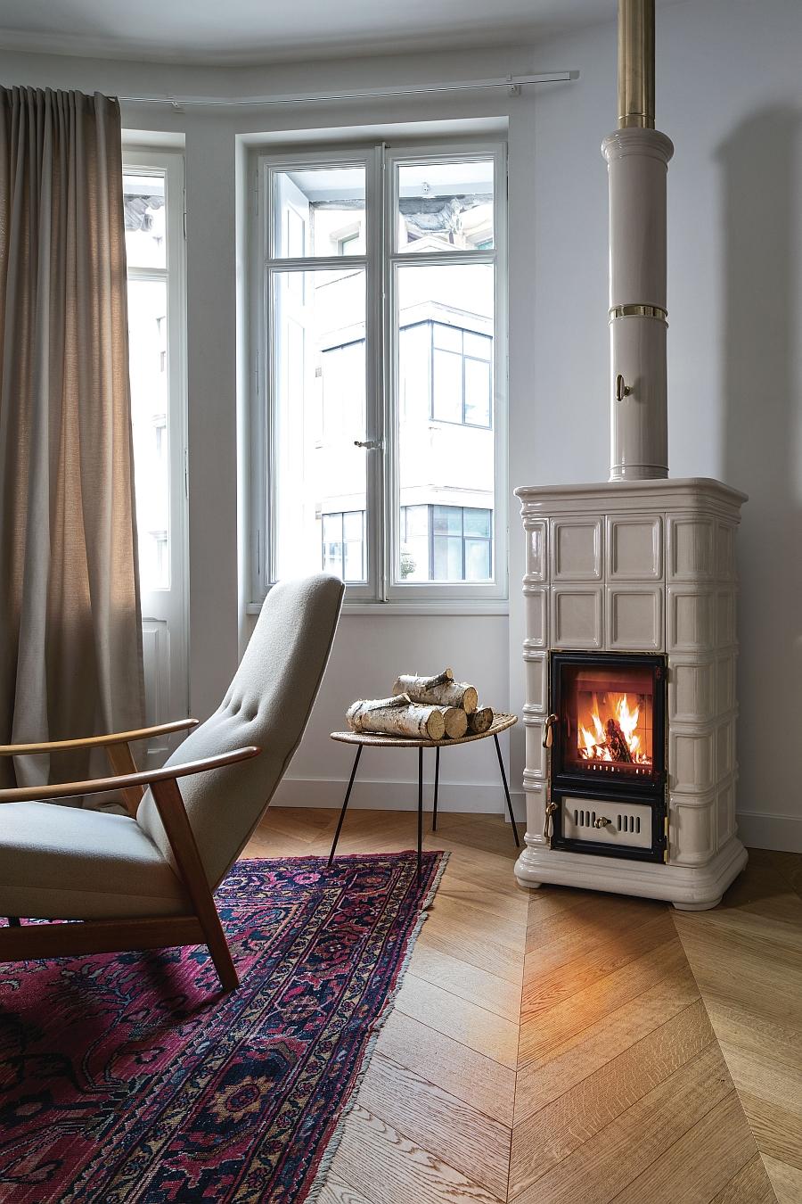 Modern Freestanding Wood Burning Heating Systems Designs