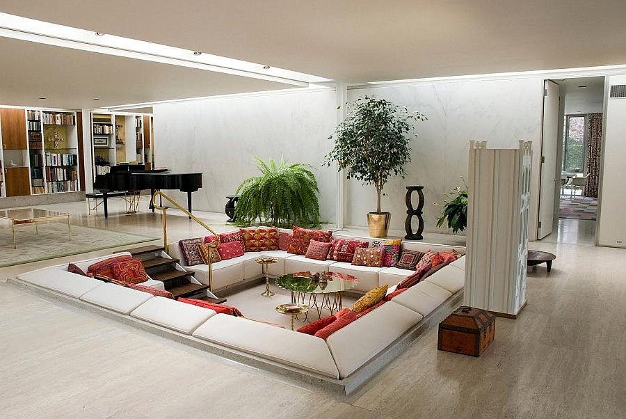 Sunken Living Rooms, Stepdown Conversation Pits Ideas, Photos