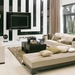 Modern Interior Design Living Room Black And White Dining Colors Rooms Ideas View In Gallery Geometric Backdrop Of The Steals Show