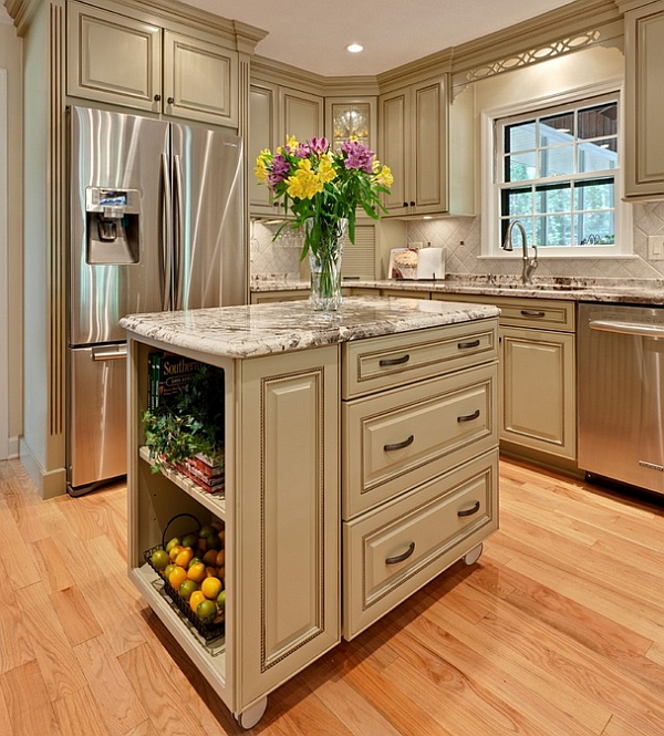mobile island kitchen counter organization ideas islands and inspirations view in gallery give your traditional a modern makeover