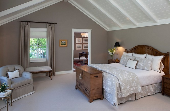 View In Gallery Grey Walls Add Refinement To The Room With Slanted Ceiling Savvy Design Ideas That Help Make