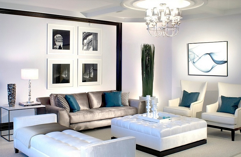 black and white living rooms room chests design ideas view in gallery lavish with posh blue accents