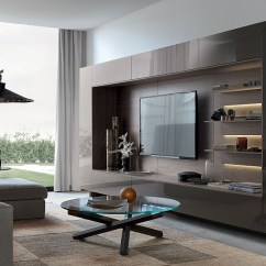 Cheap Wall Units For Living Room Ideas Grey And Black Sofa 20 Most Amazing View In Gallery Lovely Underlit Shelves Add Elegance To The Gorgeous Unit System
