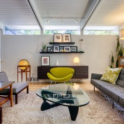 Low Ceiling Living Room Design Ideas Rooms With Wood Walls How To Make Your Look Higher View In Gallery A Window At The Top And Iconic Mid Century Modern