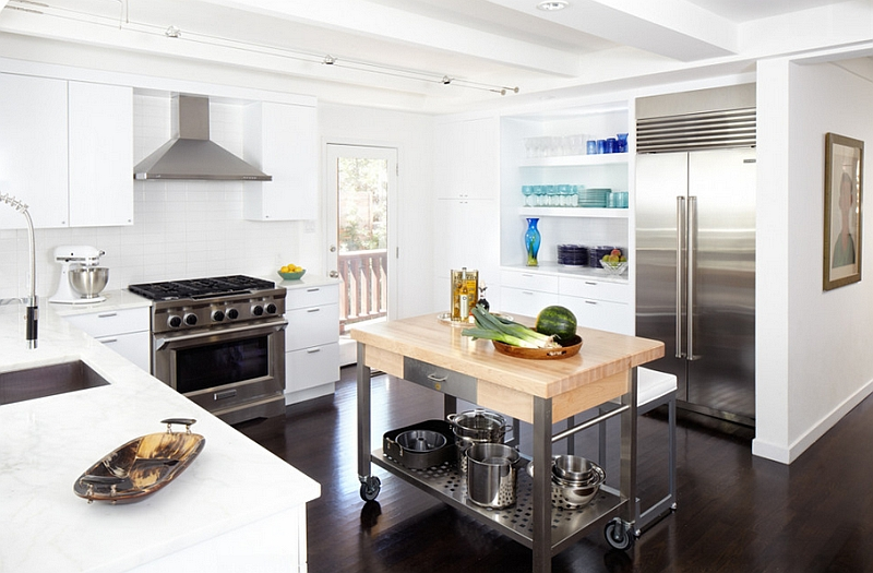 wheeled kitchen island cabinet door bumper pads mobile islands ideas and inspirations midcentury with a cool on wheels