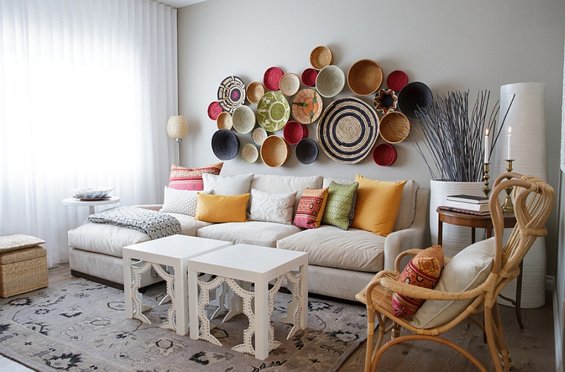moroccan style living room decor small with office ideas rooms photos and inspirations view in gallery modern a wall arrangement crafted from baskets
