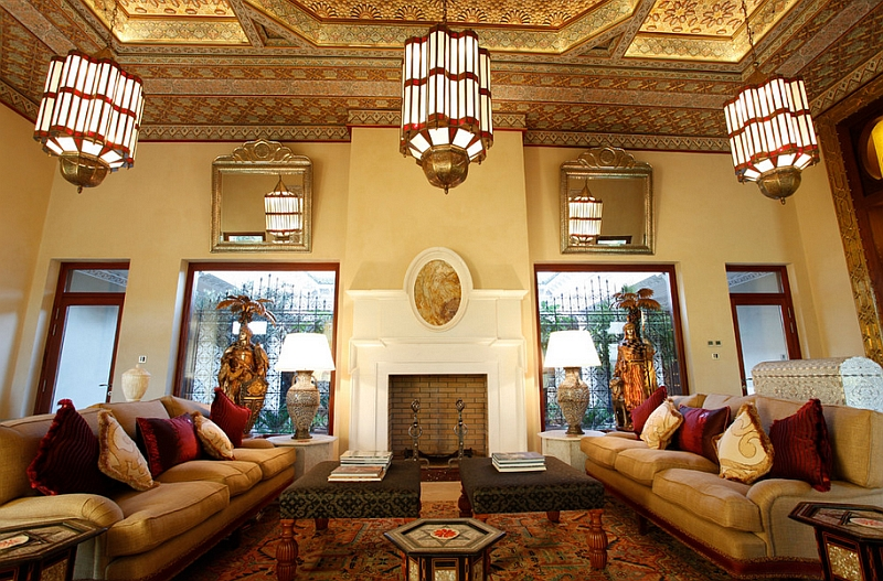 moroccan style living room accessories modern country decor rooms ideas photos and inspirations view in gallery ornate ceiling adds to the charm of this beautiful by bazaar interior designers