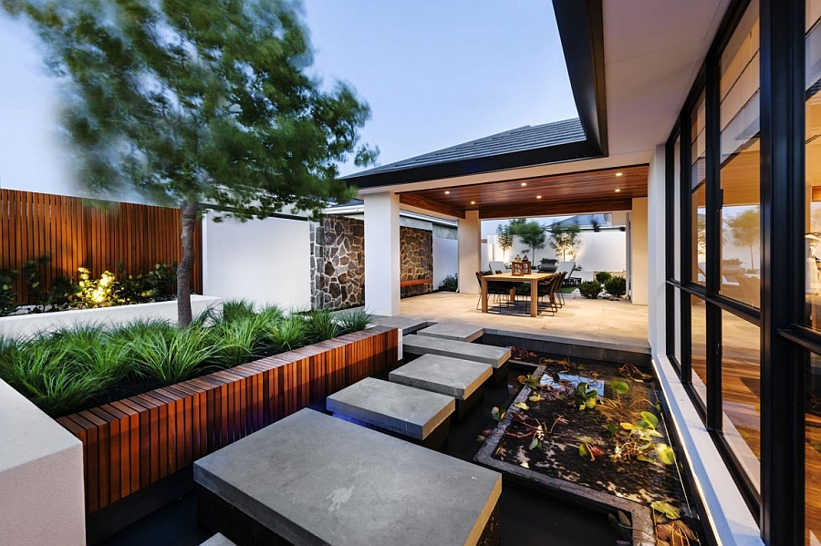 JapaneseInspired Perth Residence Offers Serenity Draped