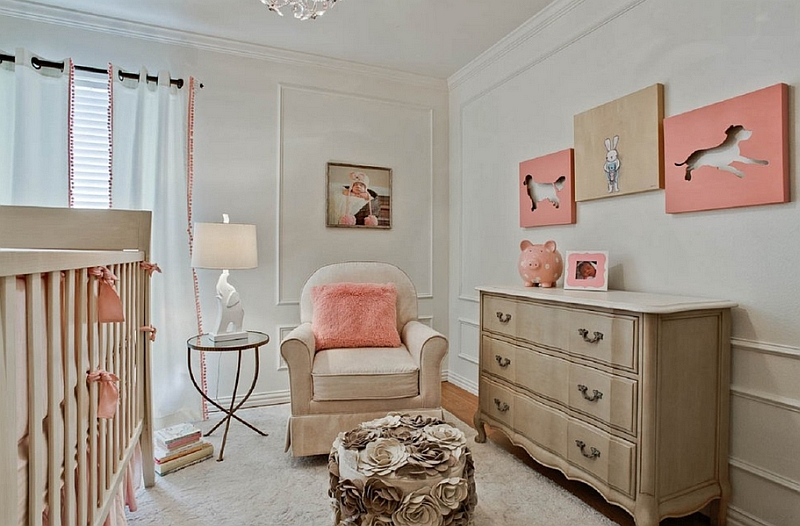 Pastel version of coral for the trendy modern nursery Hot Color Trends: Three Fashionable Hues That Serve You All Year Long Year Trends Three Serve Long Hues Fashionable Color