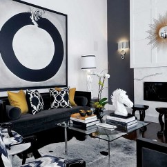 Design Ideas For Black And White Living Room Designer Table Lamps Rooms View In Gallery Playing With Different Shades Hues Of Grey To Create An Affluent Look By Atmosphere Interior