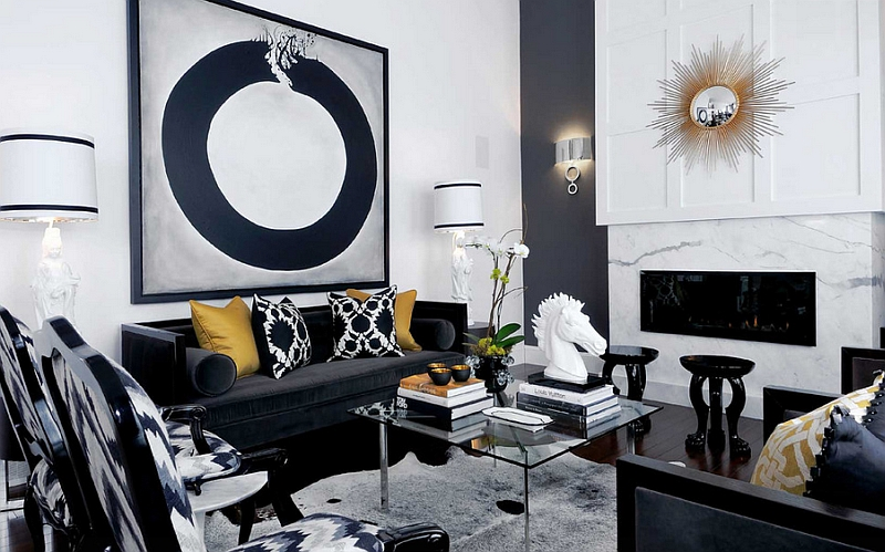 dark grey and white living room ideas decorating rooms black design view in gallery playing with different shades hues of to create an affluent look by atmosphere interior