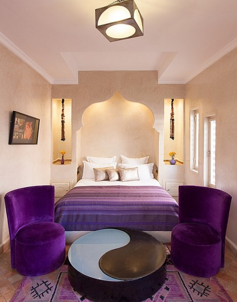 moroccan bedroom gold purple Moroccan Bedrooms Ideas, Photos, Decor And Inspirations