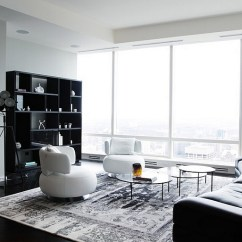 Black And White Living Rooms Yellow Paint Ideas For Room Design View In Gallery Posh With Plenty Of Natural Ventilation