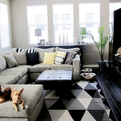 Living Room Pictures Black And White Side Chairs With Arms For Rooms Design Ideas View In Gallery Small A Plush Couch At Its Heart