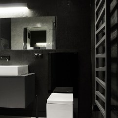 Small Kitchen Ideas Pictures Global Knives Black And White Apartment In Poland Exudes Refined ...