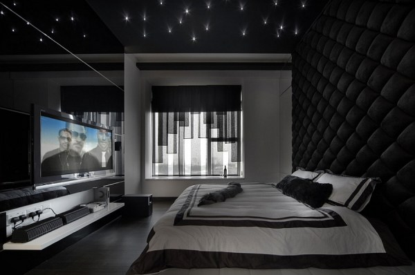 masculine bedrooms black bed Masculine Bedroom Ideas, Design Inspirations, Photos And