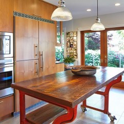 Red Kitchen Garbage Can Cheap Cabinet Doors Mobile Islands Ideas And Inspirations