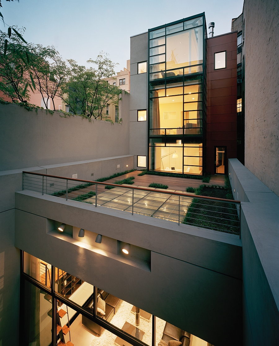 Old Coal Garage Turned Into A Posh NYC Townhouse Modern Renovation