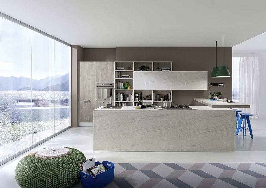 Contemporary Italian Kitchen SpaceSaving Versatile Compositions
