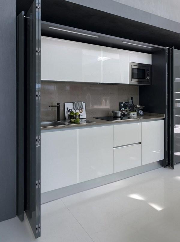 Contemporary Italian Kitchen Space-saving Versatile