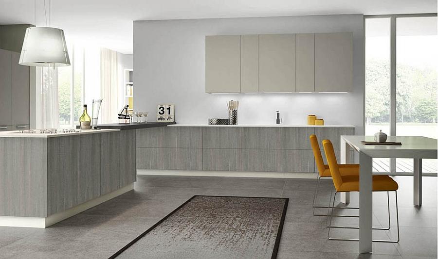 Cucina Larice Grigio - Idee per la progettazione di decorazioni per ...