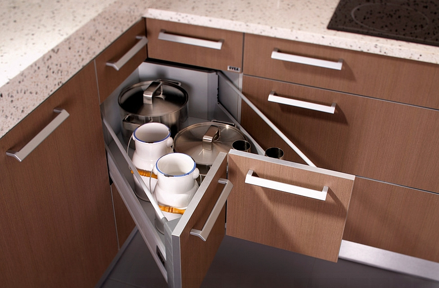 pull out kitchen drawers dish soap dispenser corner decorating ideas, tips, space-saving solutions