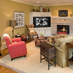 Living Room Arrangement Ideas With Corner Fireplace Small Decorating Tips Space Conscious Solutions Tv Allows You To Turn The Into Focal Point Of