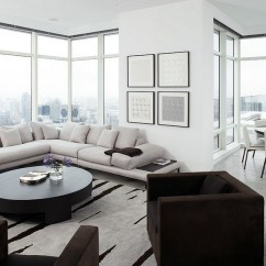 Corner Living Room Table Wall Clocks For Decorating Ideas Tips Space Conscious Solutions View In Gallery Couch The And Window Give An Organized Look Design