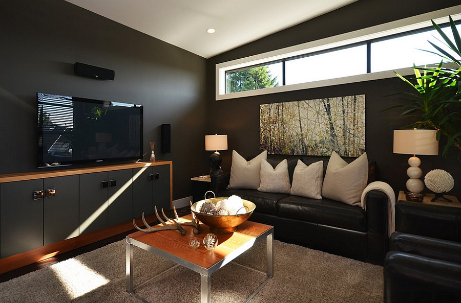 decorated living rooms images oversized room sets 55 incredible masculine design ideas inspirations dashing use of black in the by dawna jones