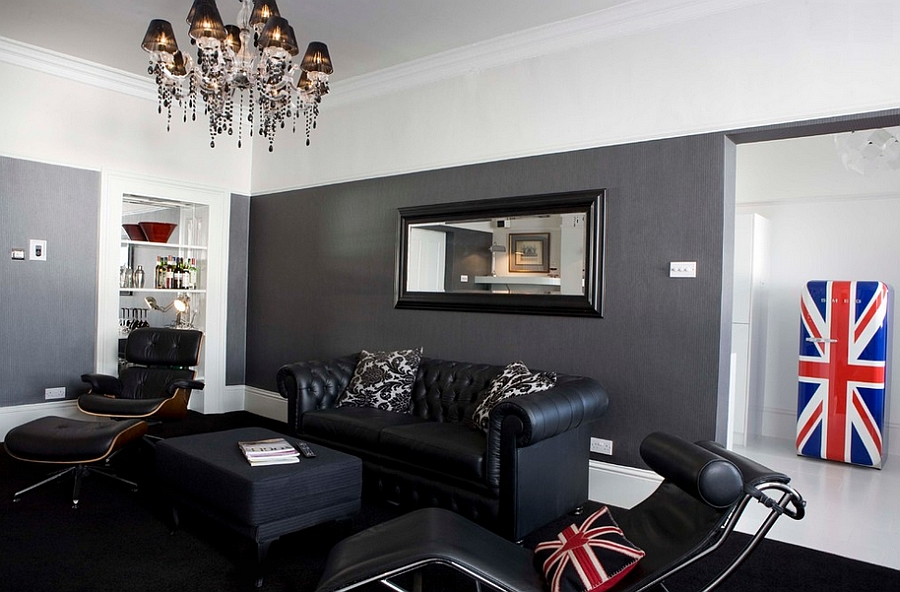 living room decorating with black furniture home design ideas 55 incredible masculine inspirations lc4 and eames lounger in the hip boutique homes